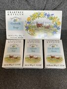 Crabtree And Evelyn Goatmilk Soap Set 3 Bars Triple Milled With Glycerine Rare