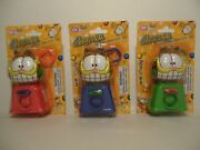 Garfield Cat Gumball Candy Dispenser Keychain Bubble Mania Paws Toy Exp. 09/23