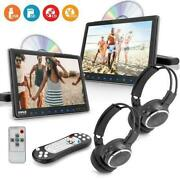 Pyle Plhrdvd90kt Portable Car Cd Dvd Tv Player With Wireless Headphones - 2 Pack
