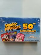 Topps Wacky Packages 50th Anniversary Collector Edition 2017 Stickers Sealed Box