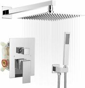 Rain Shower Faucets Sets Complete For Bathtroom With Brass Valve And Trim Kit