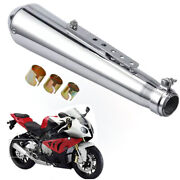 Universal Motorcycle Slip On Exhaust Muffler Removable Pipe Silencer For Harley