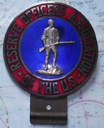 Rare Vintage Car Mascot Badge Reserve Officers Association Of The Us Usa