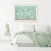Birds And Flower Trees Painting Print Premium Poster High Quality Choose Sizes