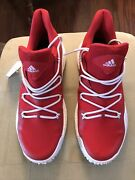 Adidas Pro Bounce Sneakers Menandrsquos Size 12.5. Red And White. New No Box.