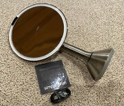 """New Simple Human 8"""" Sensor Mirror Lighted Touch Control St3026 Brushed Stainless"""
