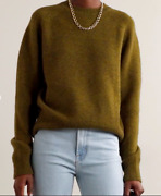 Re/done 50's Merino Wool Army Green Sweater Size Large 400 Retail