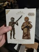 2012 Hallmark Star Wars Sdcc Comic Con 4lom And Zuckuss Ornaments Autographed