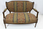 French Louis Xvi Solid Walnut Loveseat Completely Reupholstered Circa 1920and039s