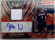 Zion Williamson 2019-20 Select Red Wave Tmall Ssp Rookie Rc Patch Auto Rpa