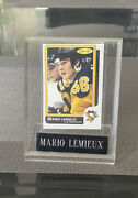 1986-87 O-pee-chee 122 Opc 86-87 Mario Lemieux - 2nd Year Table Plaque Hof Nm