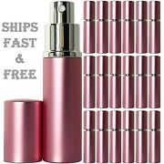Empty Perfume Pink Bottles Glass 10ml Silver Atomizer Deluxe Spray Refillable