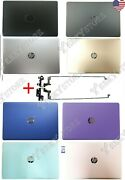 New Hp 17-bs 17bs Lcd Rear Lid Back Cover Top Case + Hinges Usa