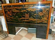 Beautiful Vintage Drexel Heritage Asian Headboard Bed Chinoiserie Full Size