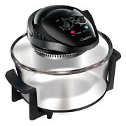 Ovation 12l Electric Halogen Convection Baking/grilling Oven W/ Racks/tongs Blk