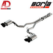 Borla 140837bc Atak Cat-back Exhaust For 2020-2021 Ford Mustang Shelby Gt500 5.2