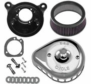 S And S Cycle Mini Stealth Air Cleaner Kits For Harley-davidson 170-0449