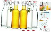 Clear Glass Beer Bottles For Home Brewing With Easy Wire Swing Cap And Airtight