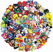 100 Mixed Pvc Shoe Charm Lot Different Charms Fit For Girl Boy Fun Kids Toy New
