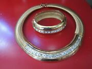 Vintage Givenchy Signed Costume Jewelry Necklace And Bracelet Lot