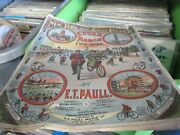 1896 New York And Coney Island Cycle March Antique Sheet Music E.t. Paull Bicycles