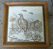 Antique Wedgwood 8 By 8 Porcelain Game Series Transferware Tile Partridge