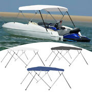 4 Bow Bimini Top Canopy Boat Roof Cover Awning Sun Shade With Frame