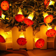 10-20led Mushroom String Light Lamp With Battery Box Garden Party Home Decor Us