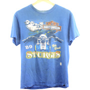 R235 Vintage Hanes Harley Davidson Sturgis And03989 Graphic Tee Made In Usa Menand039s M