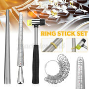 Jewelry Measuring Tool Set Alloy Ring Size Stick Us Code Ring Ruler Hamme /m Dd