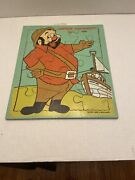 Beany And Cecil Playskool Captain Huffenpuff Vintage Wood Puzzle 15 Pc