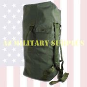 Us Military Duffel Bag / Sea Bag Heavy Duty Duck Canvas Good Issued Condition