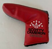 Titleist Scotty Cameron Milled Putters Red / Grey Blade Putter Head Cover