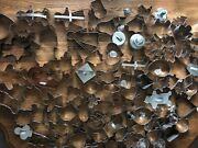 Lot Of 113 Cookie Cutter Tin Metal Aluminum Cookie Cutters Molds Vintage Modern