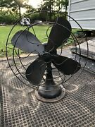 """Antique Robbins And Myers 1604 Electric Fan 16"""" Blades Vintage.. All 3 Speeds Work"""