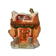 Holiday Time Santa's Village First North Pole Piggy Bank