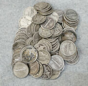 10 Face Value 90 Silver Mercury Dimes Lot Of 100 Circulated Junk Silver