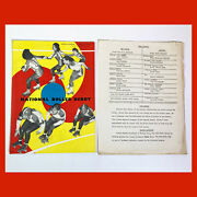 Rare 1951 National Roller Derby Program And Lineup Sheet Insert Nutley Nj A