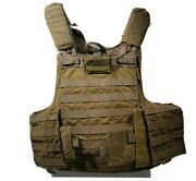 Eagle Industries Usmc Armor Plate Carrier Sm Coyote Brown W/ Front Soft Insert