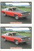 1971 Plymouth Duster 340 Baseball Card Sized Cards - Lot Of 2 - Must See
