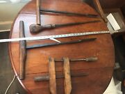 Antique Wood Working Bits Reamer Handle Drill Clamp Jcb Smith Edison Driver