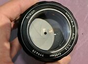 Nikon Nikkor Nai 55mm F/1.2 Lens In Excellent Working Condition With Case Bokeh
