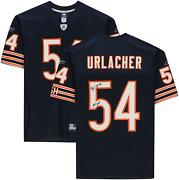 Brian Urlacher Chicago Bears Signed Navy Reebok Authentic Jersey And Hof 18 Insc
