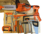 Pretend Play Home Depot Power Tools Chainsaw Black Decker Toys Huge Lot