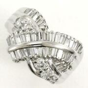 Jewelry Platinum 900 Ring 9japan Size Diamond 1.00 About7.6g Free Shipping Used
