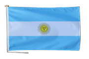 Argentina Flag With Rope And Toggle - Various Sizes