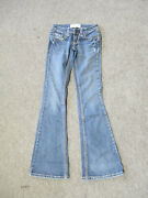 Women's Deb Jeans Low Rise Med Wash Stretch Boot Cut Jeans Size 0