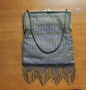 Vintage/antique Silver And Gold Roaring Twenty's Purse With Beautiful Brass Frame