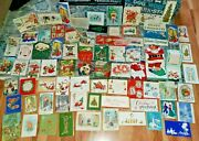 Lot Of 131 Vintage 1900's To 1960s Christmas Postcards + Cards Xmas Pop Up Mixed
