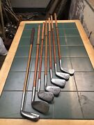 Hickory Golf Clubs Nicoll Rustless Matched Set Of Restored Play Clubs X7 See Des